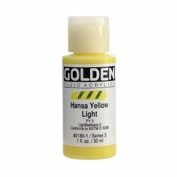 Golden Fluid Acrylics, 1 oz, Hansa Yellow Light