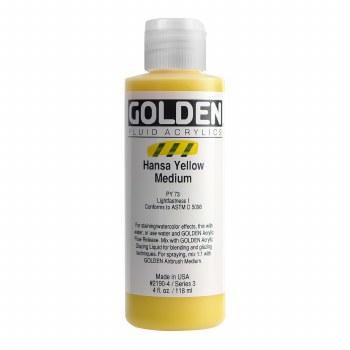 Golden Fluid Acrylics, 4 oz, Hansa Yellow Medium