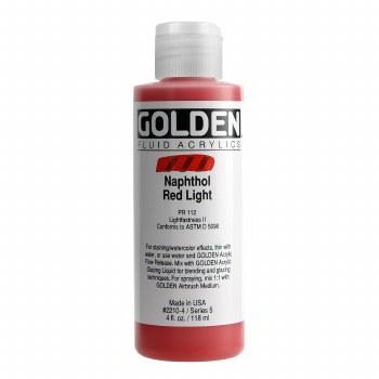 Golden Fluid Acrylics, 4 oz, Naphthol Red Light