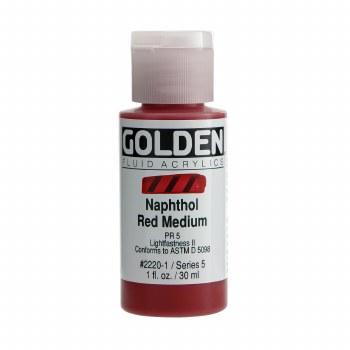 Golden Fluid Acrylics, 1 oz, Naphthol Red Medium