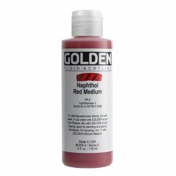 Golden Fluid Acrylics, 4 oz, Naphthol Red Medium