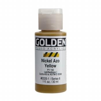 Golden Fluid Acrylics, 1 oz, Nickel Azo Yellow