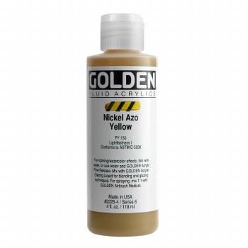 Golden Fluid Acrylics, 4 oz, Nickel Azo Yellow
