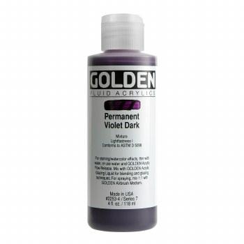 Golden Fluid Acrylics, 4 oz, Permanent Violet Dark
