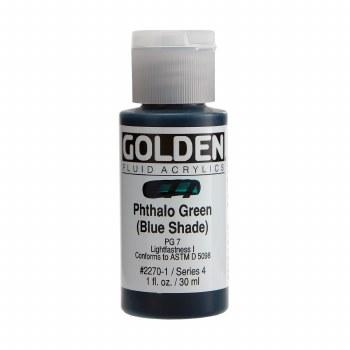 Golden Fluid Acrylics, 1 oz, Pthalo Green (Blue Shade)