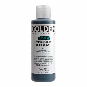 Golden Fluid Acrylics, 4 oz, Pthalo Green (Blue Shade)
