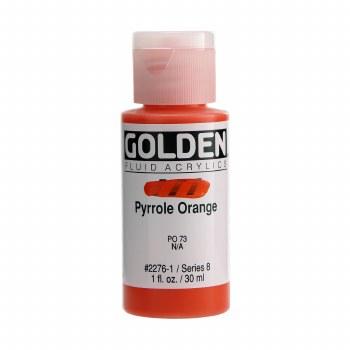 Golden Fluid Acrylics, 1 oz, Pyrrole Orange