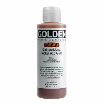 Golden Fluid Acrylics, 4 oz, Quinacridone/Nickel Azo Gold