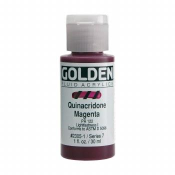 Golden Fluid Acrylics, 1 oz, Quinacridone Magenta