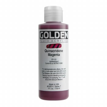 Golden Fluid Acrylics, 4 oz, Quinacridone Magenta