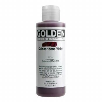 Golden Fluid Acrylics, 4 oz, Quinacridone Violet