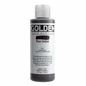 Golden Fluid Acrylics, 4 oz, Raw Umber