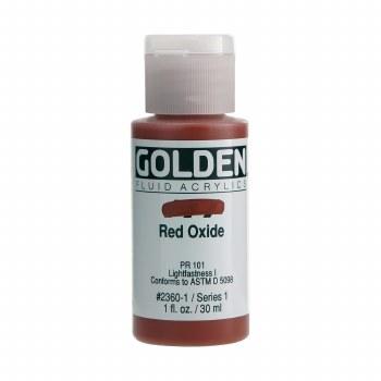 Golden Fluid Acrylics, 1 oz, Red Oxide