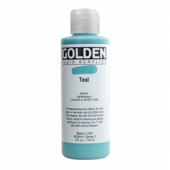 Golden Fluid Acrylics, 4 oz, Teal