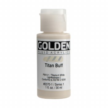 Golden Fluid Acrylics, 1 oz, Titan Buff