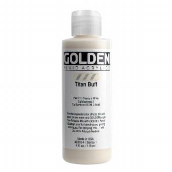 Golden Fluid Acrylics, 4 oz, Titan Buff