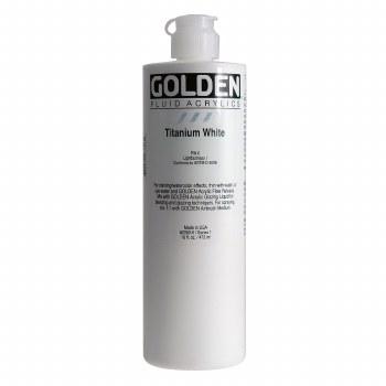 Golden Fluid Acrylics, Pint, Titanium White
