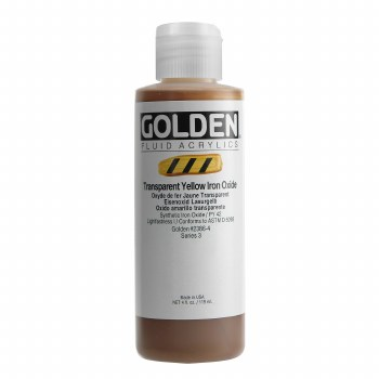 Golden Fluid Acrylics, 4 oz, Transparent Yellow Iron Oxide