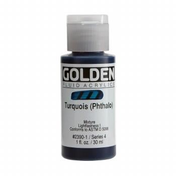 Golden Fluid Acrylics, 1 oz, Turquoise(Pthalo)