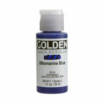 Golden Fluid Acrylics, 1 oz, Ultramarine Blue