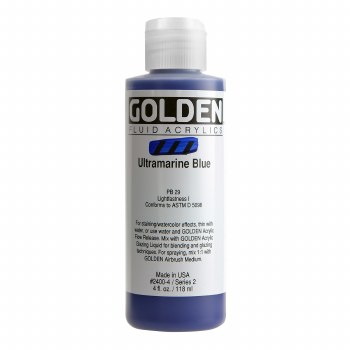 Golden Fluid Acrylics, 4 oz, Ultramarine Blue