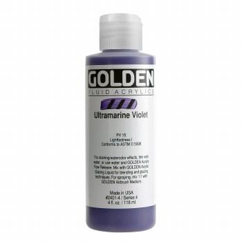 Golden Fluid Acrylics, 4 oz, Ultramarine Violet