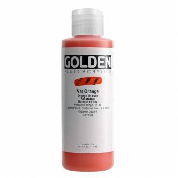 Golden Fluid Acrylics, 4 oz, Vat Orange