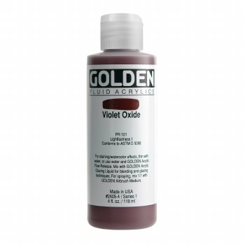 Golden Fluid Acrylics, 4 oz, Violet Oxide