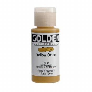 Golden Fluid Acrylics, 1 oz, Yellow Oxide