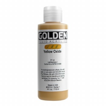 Golden Fluid Acrylics, 4 oz, Yellow Oxide