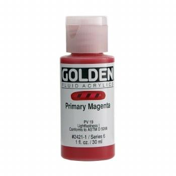 Golden Fluid Acrylics, 1 oz, Primary Magenta
