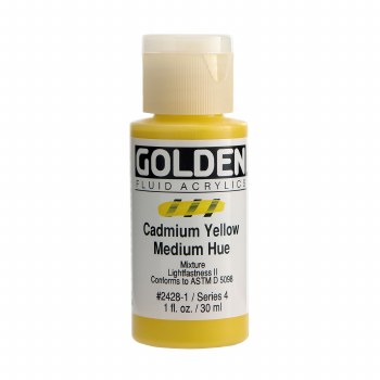Golden Fluid Acrylics, 1 oz, Cadmium Yellow Medium Hue