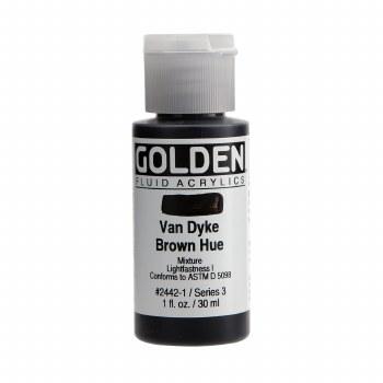 Golden Fluid Acrylics, Van Dyke Brown