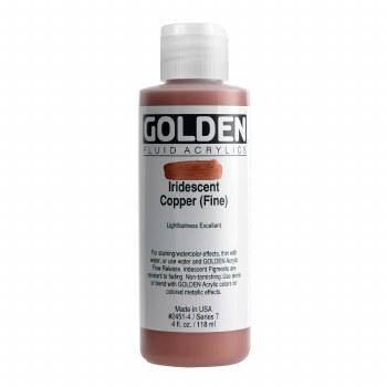 Golden Iridescent Fluid Acrylics, 4 oz, Iridescent Copper