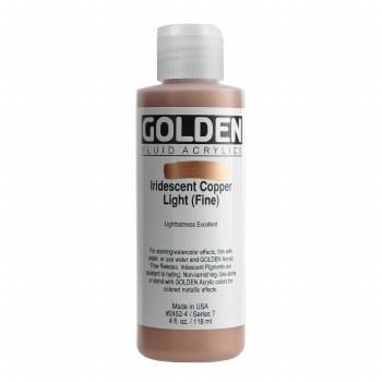 Golden Iridescent Fluid Acrylics, 4 oz, Iridescent Light Copper