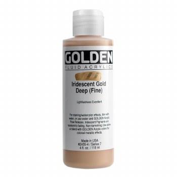 Golden Iridescent Fluid Acrylics, 4 oz, Iridescent Deep Gold