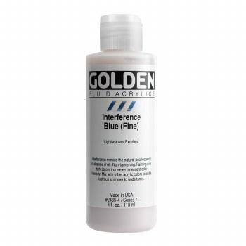 Golden Fluid Acrylics, 4 oz, Interference Blue (Fine)