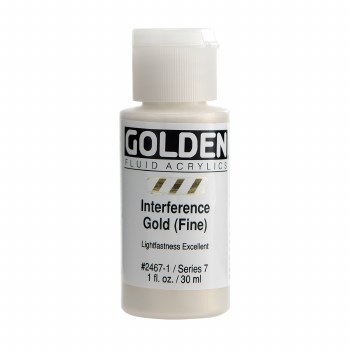 Golden Fluid Interference Colors, 1 oz, Interference Gold (Fine)