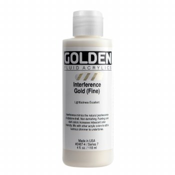 Golden Fluid Interference Colors, 4 oz, Interference Gold (Fine)
