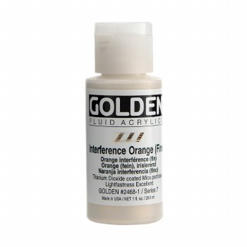 Golden Fluid Interference Colors, 1 oz, Interference Orange (Fine)