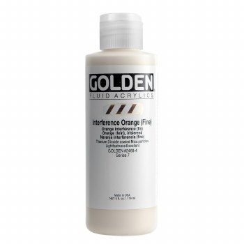 Golden Fluid Interference Colors, 4 oz, Interference Orange (Fine)