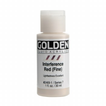Golden Fluid Interference Colors, 1 oz, Interference Red (Fine)