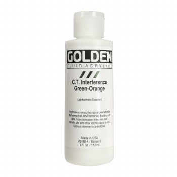 Golden Fluid Interference Colors, 4 oz, Interference Green-Orange
