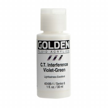 Golden Fluid Interference Colors, 1 oz, Interference Violet-Green