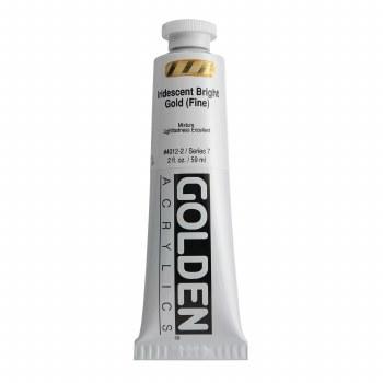 Golden Heavy Body Iridescent Acrylics, 2 oz, Bright Gold