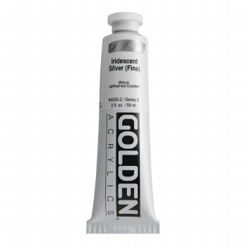 Golden Heavy Body Iridescent Acrylics, 2 oz, Silver