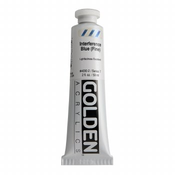 Golden Heavy Body Interference Colors, 2 oz, Blue