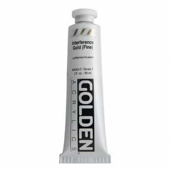 Golden Heavy Body Interference Colors, 2 oz, Gold