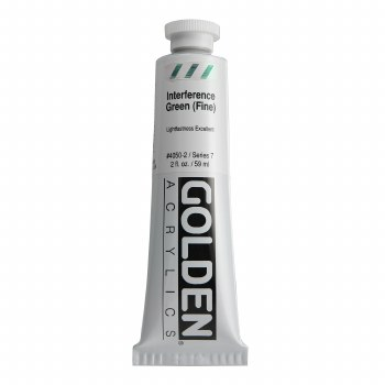 Golden Heavy Body Interference Colors, 2 oz, Green