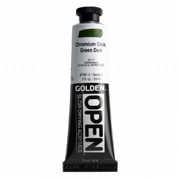 Golden OPEN Acrylics, 2 oz, Chromium Oxide Green Dark